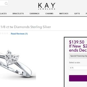 f805967bd Jewelry - diamond promise/engagement ring sterling silver